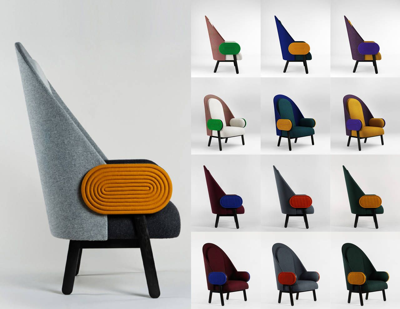 MOON-B\u0027, a Contemporary Armchair with a Vintage Twist in Limited ...