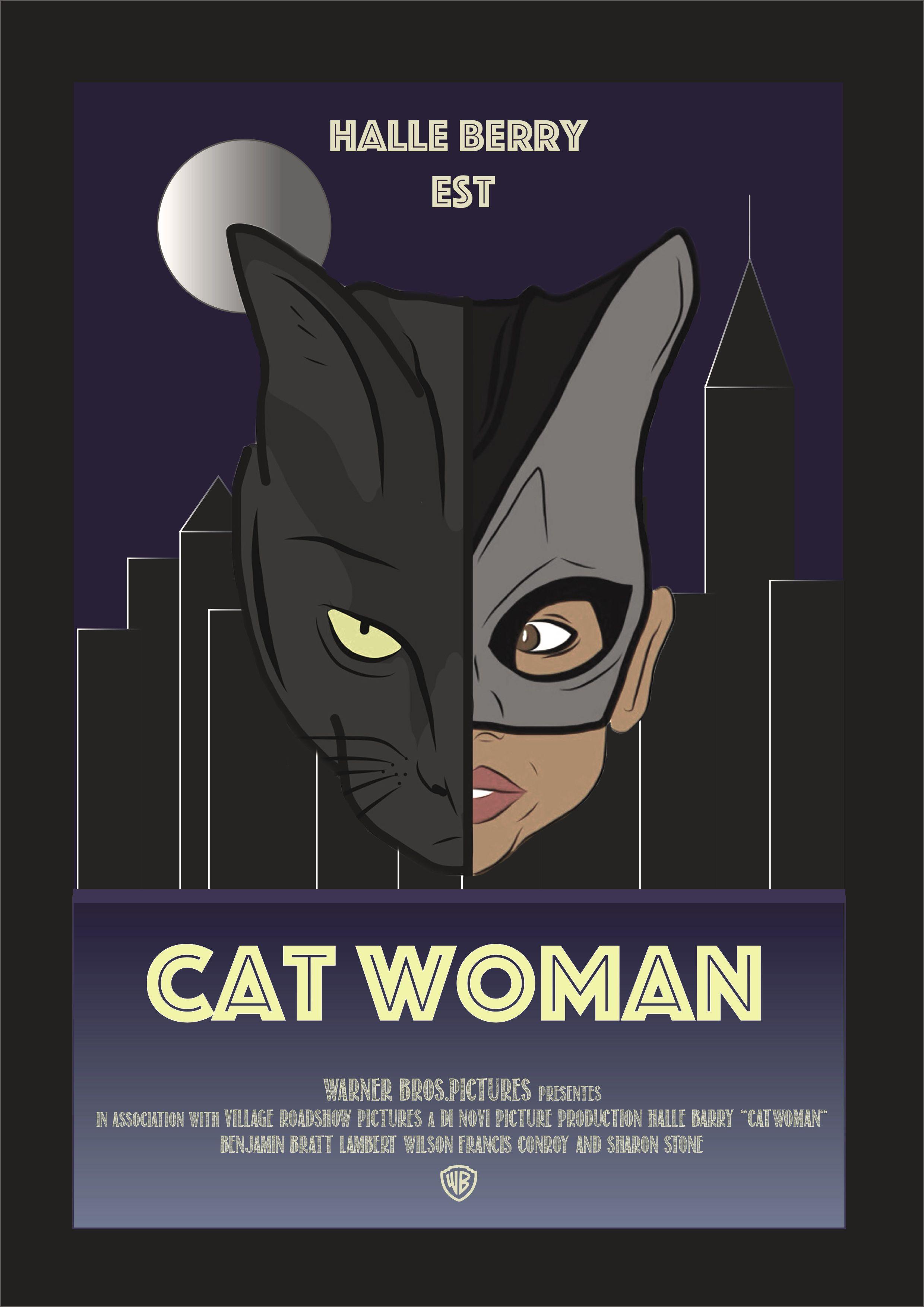#projet #illustrator #affichecinema #catwoman #draw