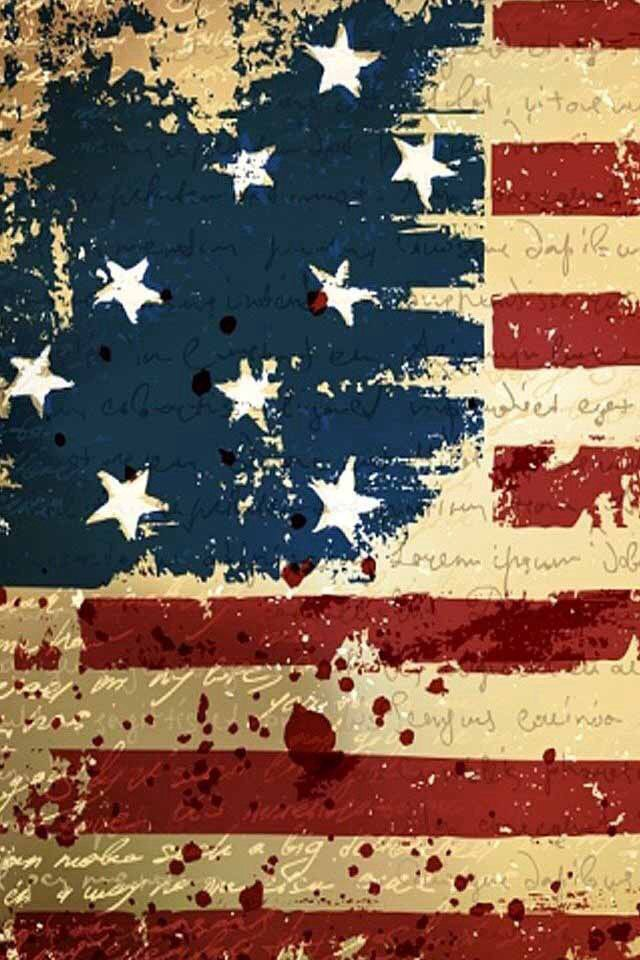 Cool Painting Of The Country S Flag American Flag Wallpaper 4th Of July Wallpaper Iphone 5 Wallpaper