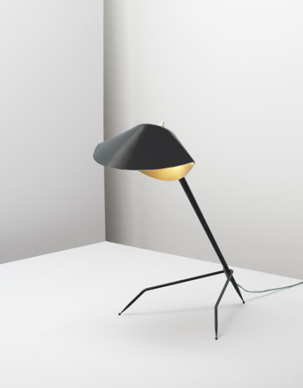 Serge Mouille French Tripod Table Lamp Ca 1953 Painted Metal Painted Aluminum Brass Sold For 16 800 Lampes De Table Idees D Eclairage Lampe Design