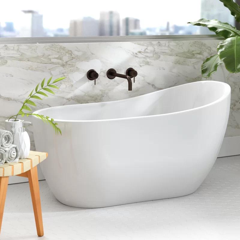 54 X 29 Freestanding Soaking Bathtub In 2020 Free Standing Bath Tub Soaking Bathtubs Free Standing Tub