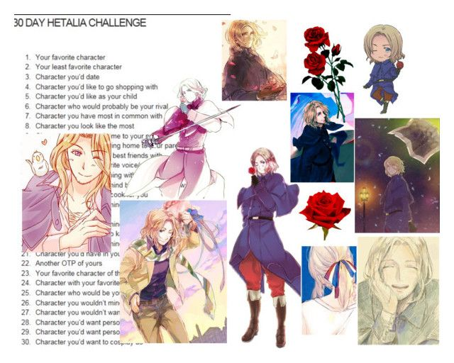 """Hetalia Challenge Day: 4"" by yashasreep on Polyvore featuring art"