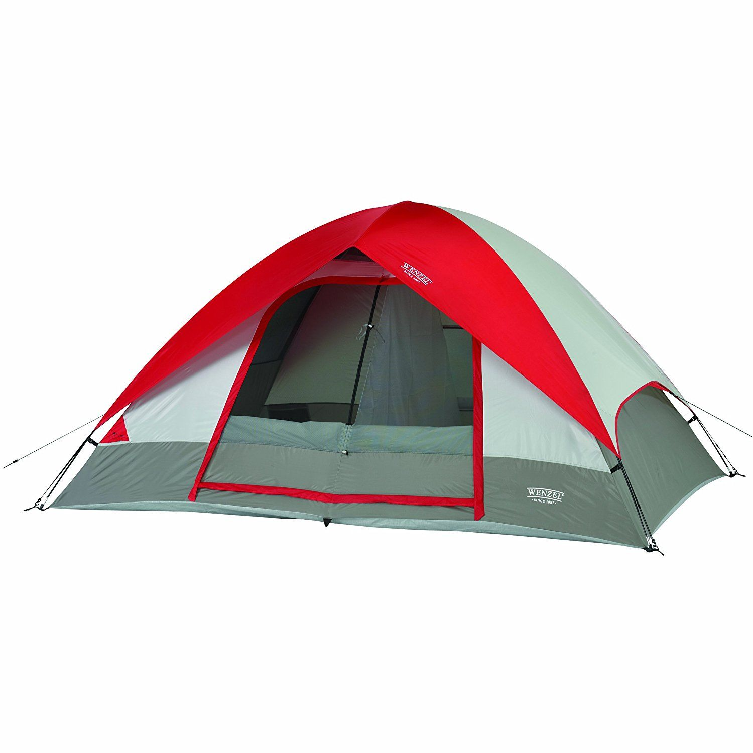 Pine Ridge 5 10 x 8 Foot 4-5 Person 2-Room Dome Tent - Red best 4 person tent 2019 tent c&ing tents 4 person tent backpacking tent big tent tents for ...  sc 1 st  Pinterest & Pine Ridge 5 10 x 8 Foot 4-5 Person 2-Room Dome Tent - Red best 4 ...