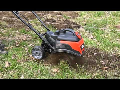 Black And Decker Tl10 Electric Tiller In Action
