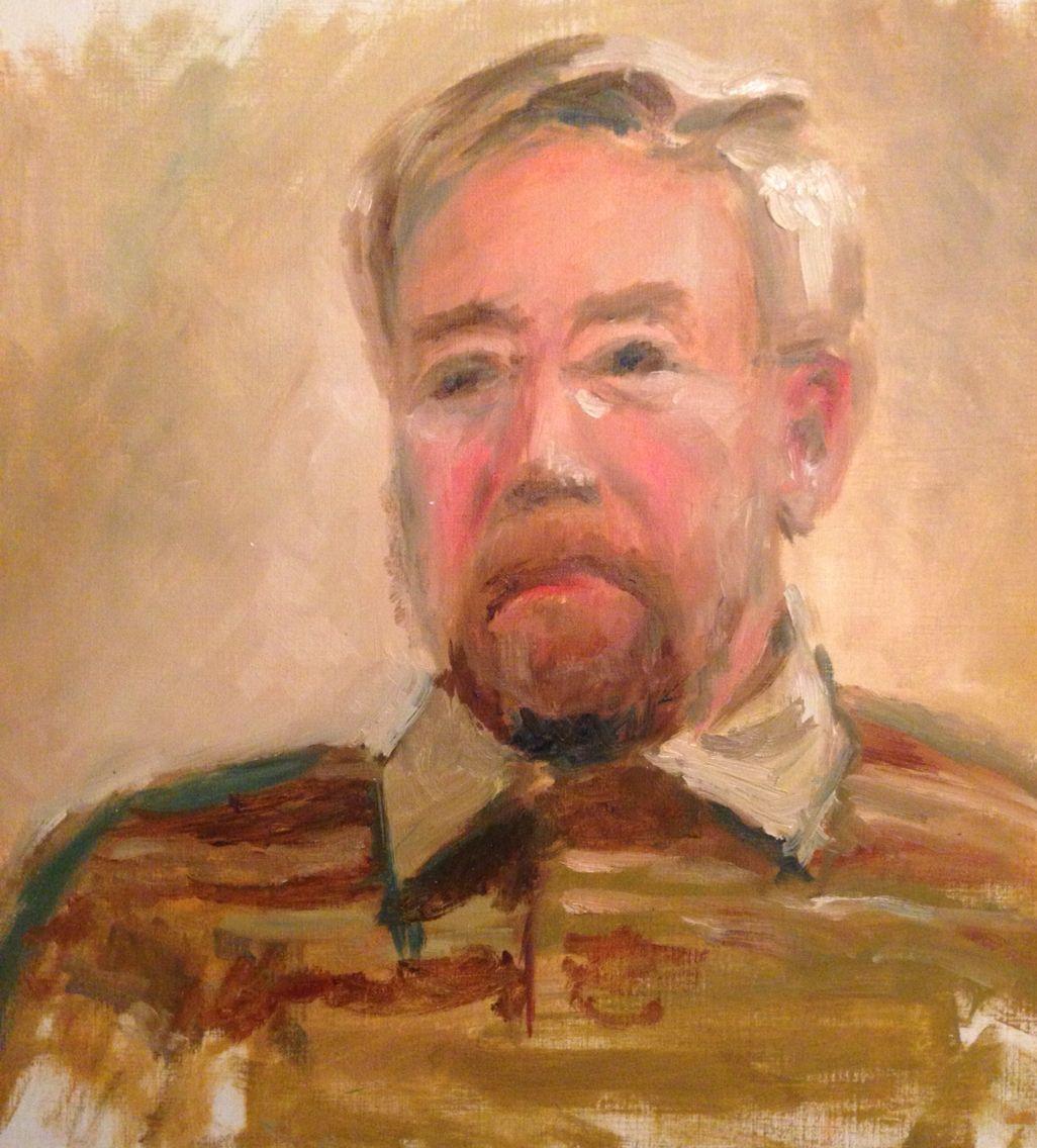 Man met baard. Olieverf. 2005