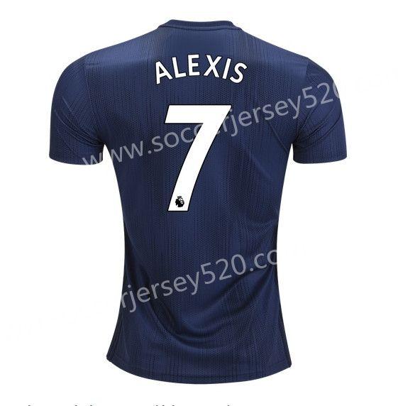 52445f86dda 2018-19 Arsenal Away Dark Blue  8 (RAMSEY) Thailand Soccer Jersey ...