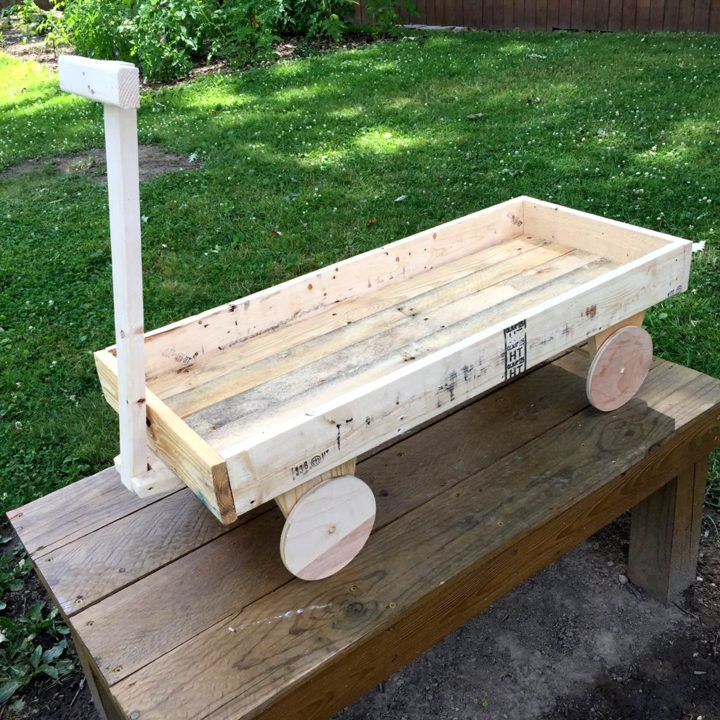 Recycled Pallet Wagon For Kids