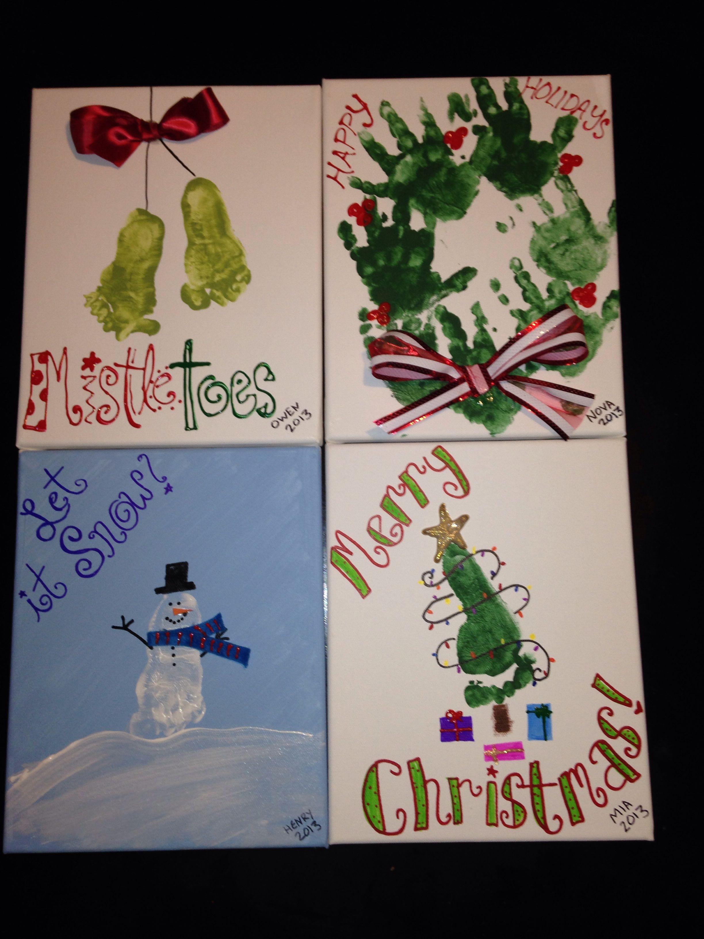 Handprint footprint Christmas crafts! Kids christmas