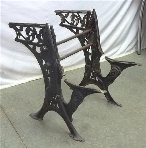 Awesome School Desk Cast Iron Base End Table Legs Industrial Age Download Free Architecture Designs Xoliawazosbritishbridgeorg