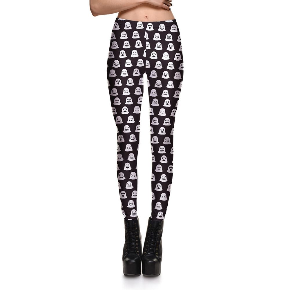 Womens Digital Printing Leisure Slim Leggings Pants For Ladies Nether Printed Casual Fitness Active Skinny Pencil Trousers S-4XL