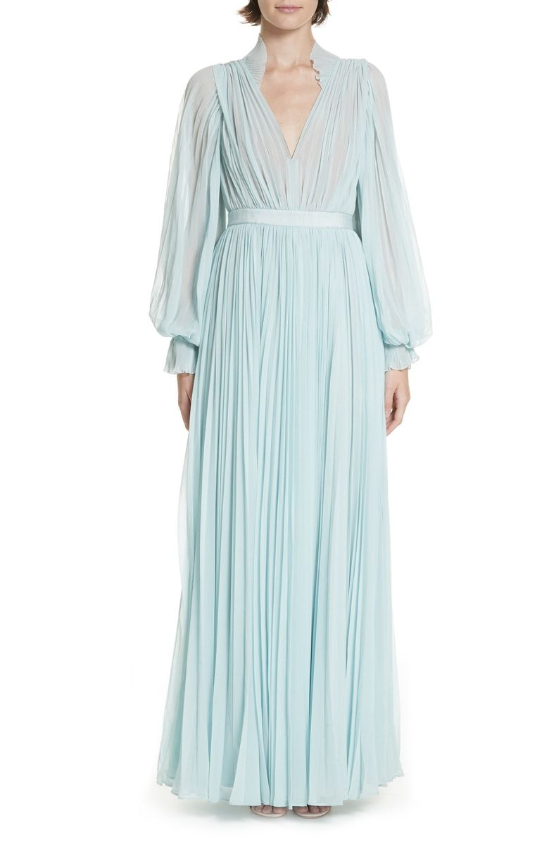 6fbd7f1b965 Free shipping and returns on Self-Portrait Chiffon Maxi Dress at  Nordstrom.com. Delicate pleats and frilled trim give this billowy maxi a  luscious