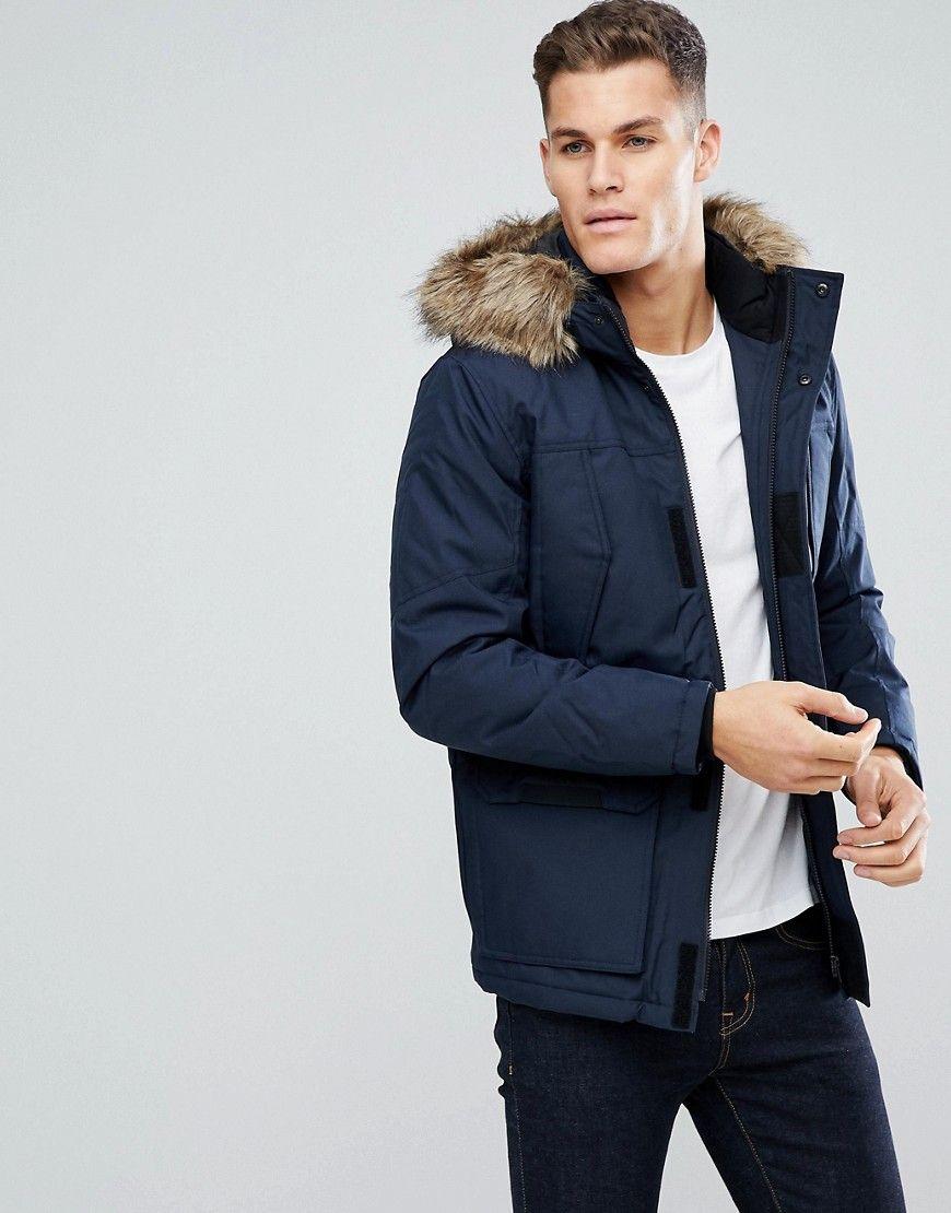 Jack Jones Parka With Faux Fur Hood 65 00 Usd Parka Jack Jones Street Wear