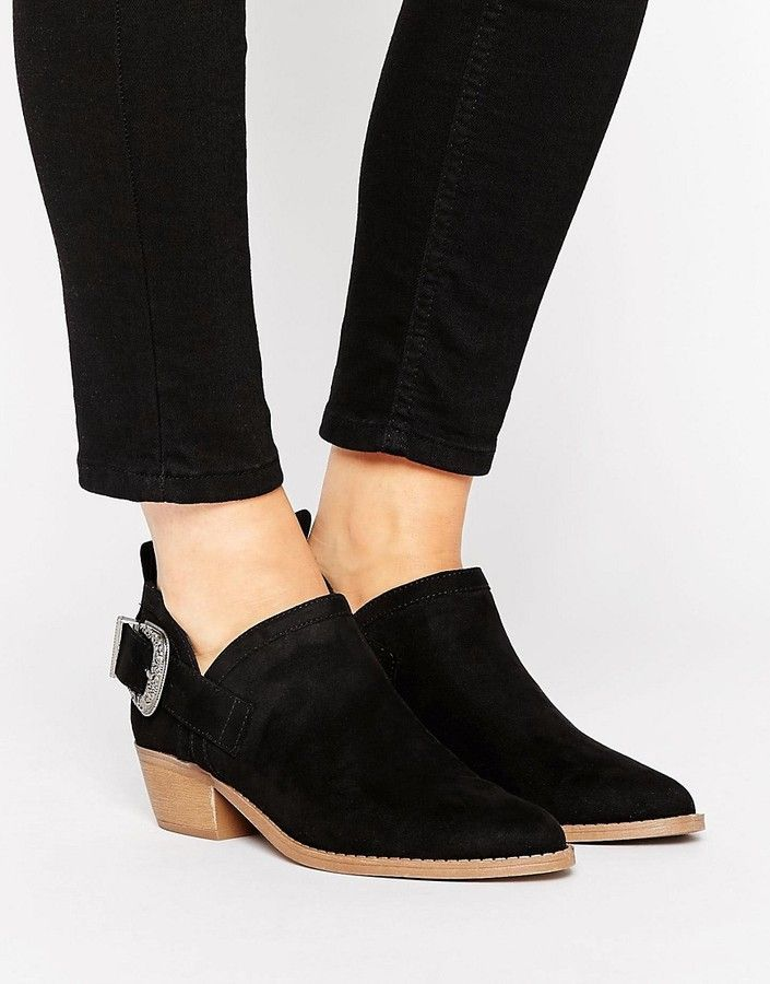New Look Western Suedette Low Ankle Boot