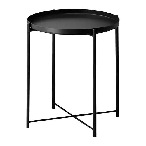 Gladom Tray Table Black Ikea In 2020 Beistelltisch Metall Sofa Beistelltisch Couchtisch Metall