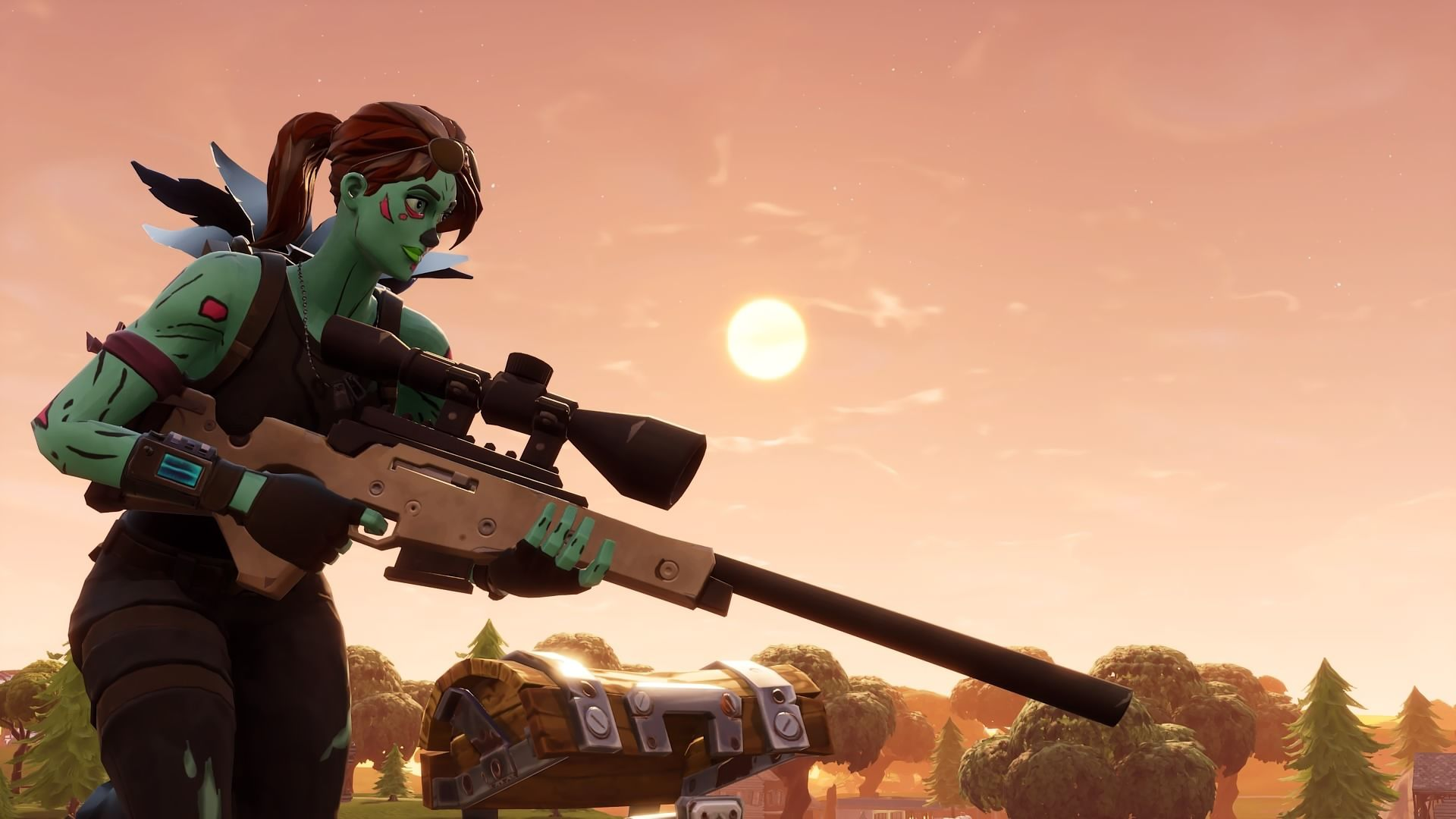 1920x1080 Hd Wallpaper Of Ghoul Trooper Fortnite Battle Royale