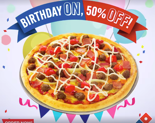 Dominos Pizza Birthday Promo Dominos Pizza Birthday Pizza