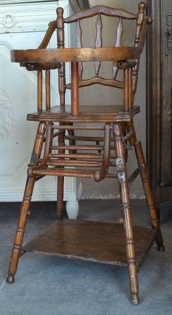 Www Didoulabrocante Com Chaise Haute Enfant Facon Bambou Thonet Ancienne A Systeme Pliante Pliable Vintage Chaise Haute Chaise Haute Enfant Chaise Haute Bois