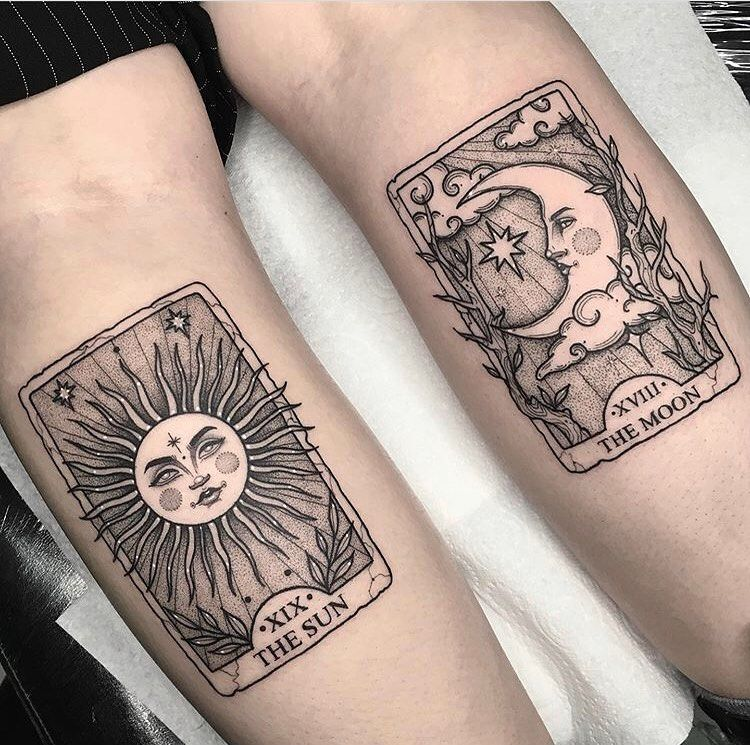 Tattoo Concierge On Instagram Loving These Tarot Cards By Lorencrawley Like Comment Follow And Share Support Tattoos Card Tattoo Matching Tattoos