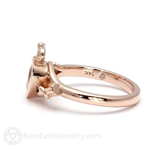0517a67da5368 Claddagh Ring Celtic Jewelry Morganite Engagement Ring Irish Promise ...