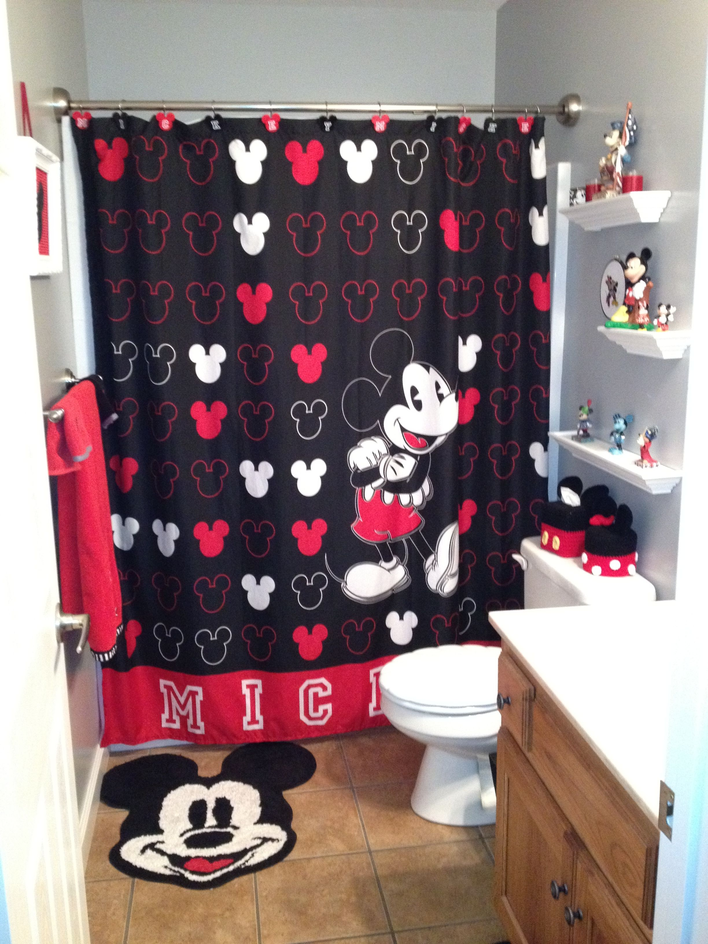 Mickey Mouse Bathroom This Is The Kids Bathroom Basically When