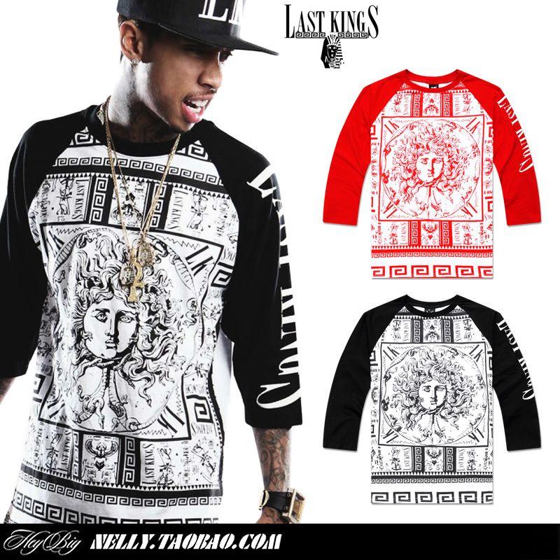 09f8e7fc07d Men s T Shirt 2014 Tyga Clothing Brand Casual Men Summer Hiphop Religion  Shirt Last Kings Shirts Men US  23.99