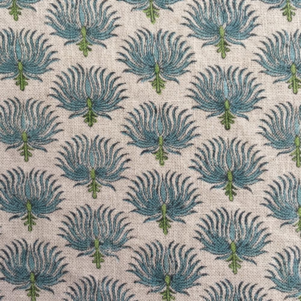 Sea Bloom Lagoon in 2020 Hand printed fabric, Artisan