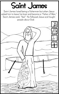 FREE Saint James Coloring Page Catholic Kids