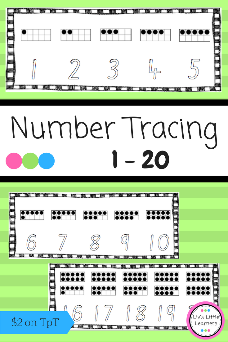 Number Formation Tracing Cards 1-20 | Pinterest | Number formation ...