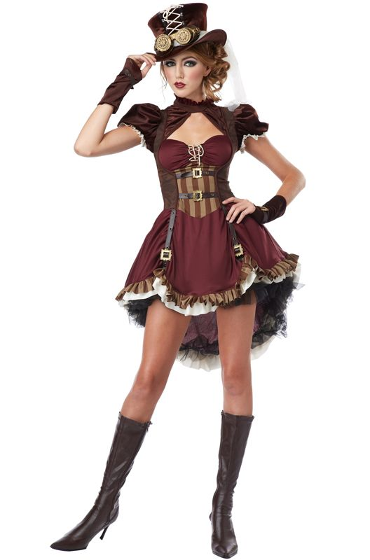 steampunk girl teen halloween costume - Teen Halloween Outfits
