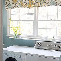 Hometalk :: A small laundry room got a cheery makeover with paint, fabric, a new l…