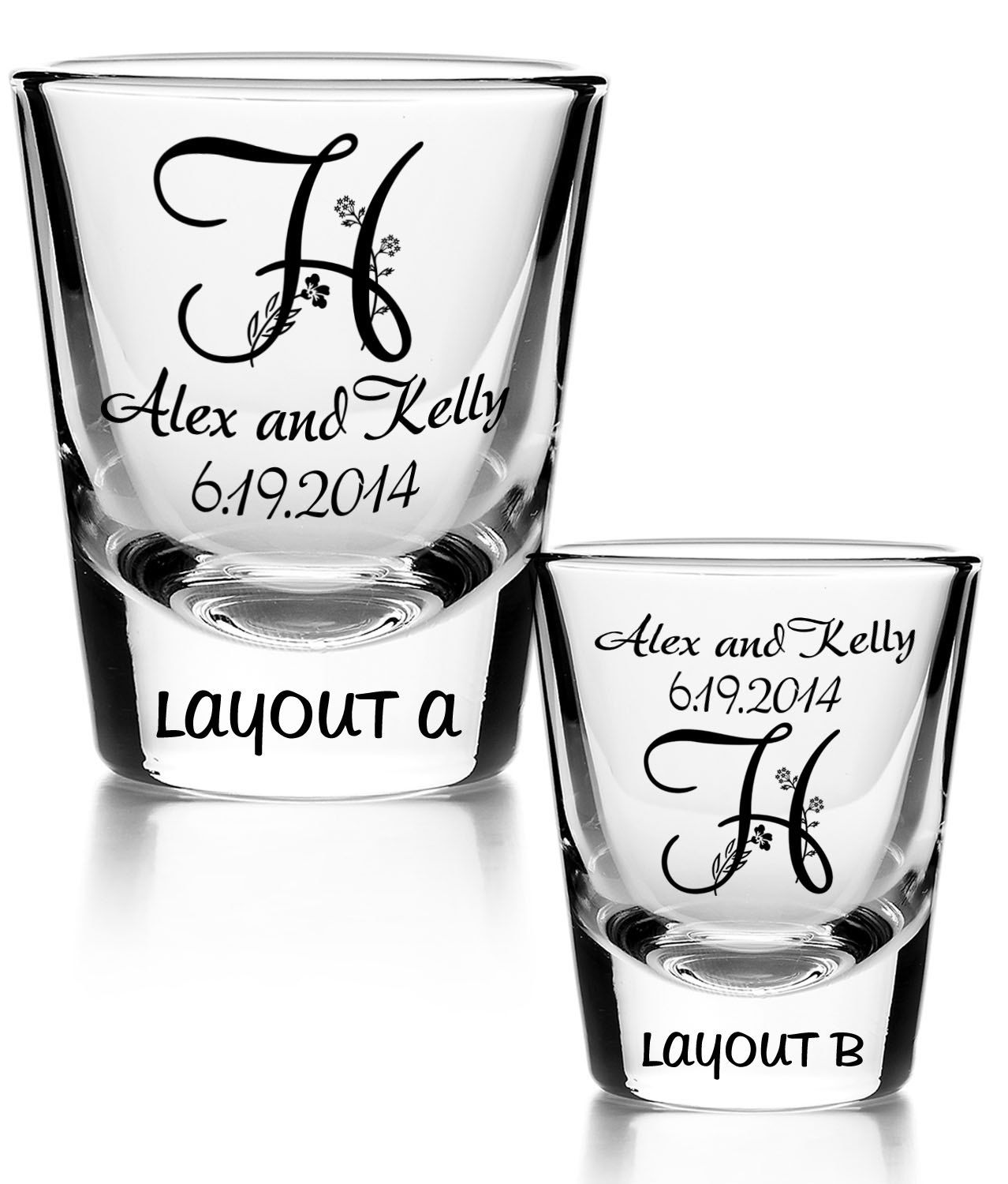 100 Personalized imprinted shot glass wedding favor by FavorsbyJay ...