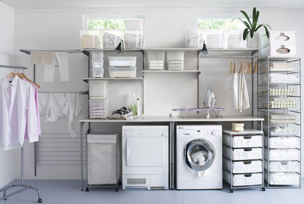 Straightforward Organized Laundry Ikea Components Amenagement Buanderie Buanderies Design Buanderie