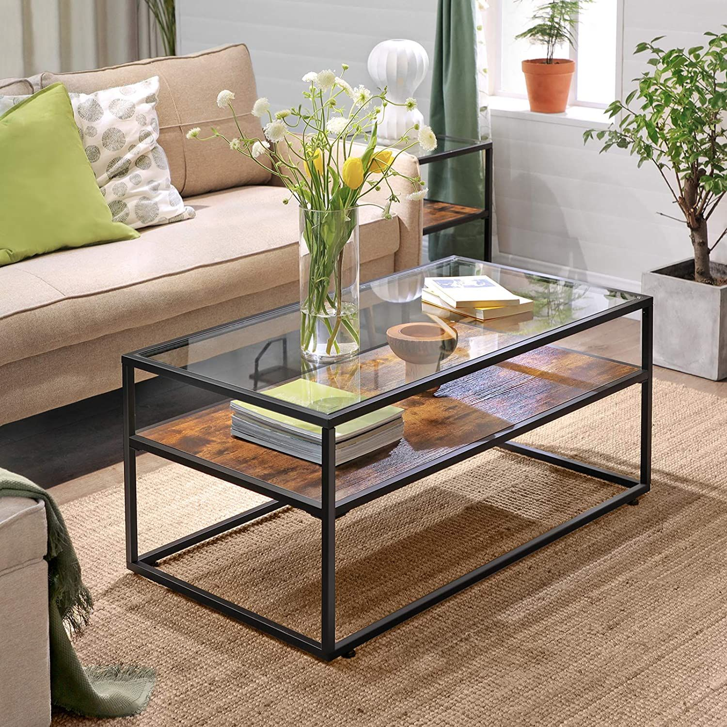 Ryan Glass Top Console Table In 2021 Coffee Table Coffee Table Wood Coffee Table With Storage [ 1500 x 1500 Pixel ]