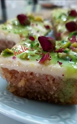 بسبوسة البستاشيو Desserts Food Pistachio