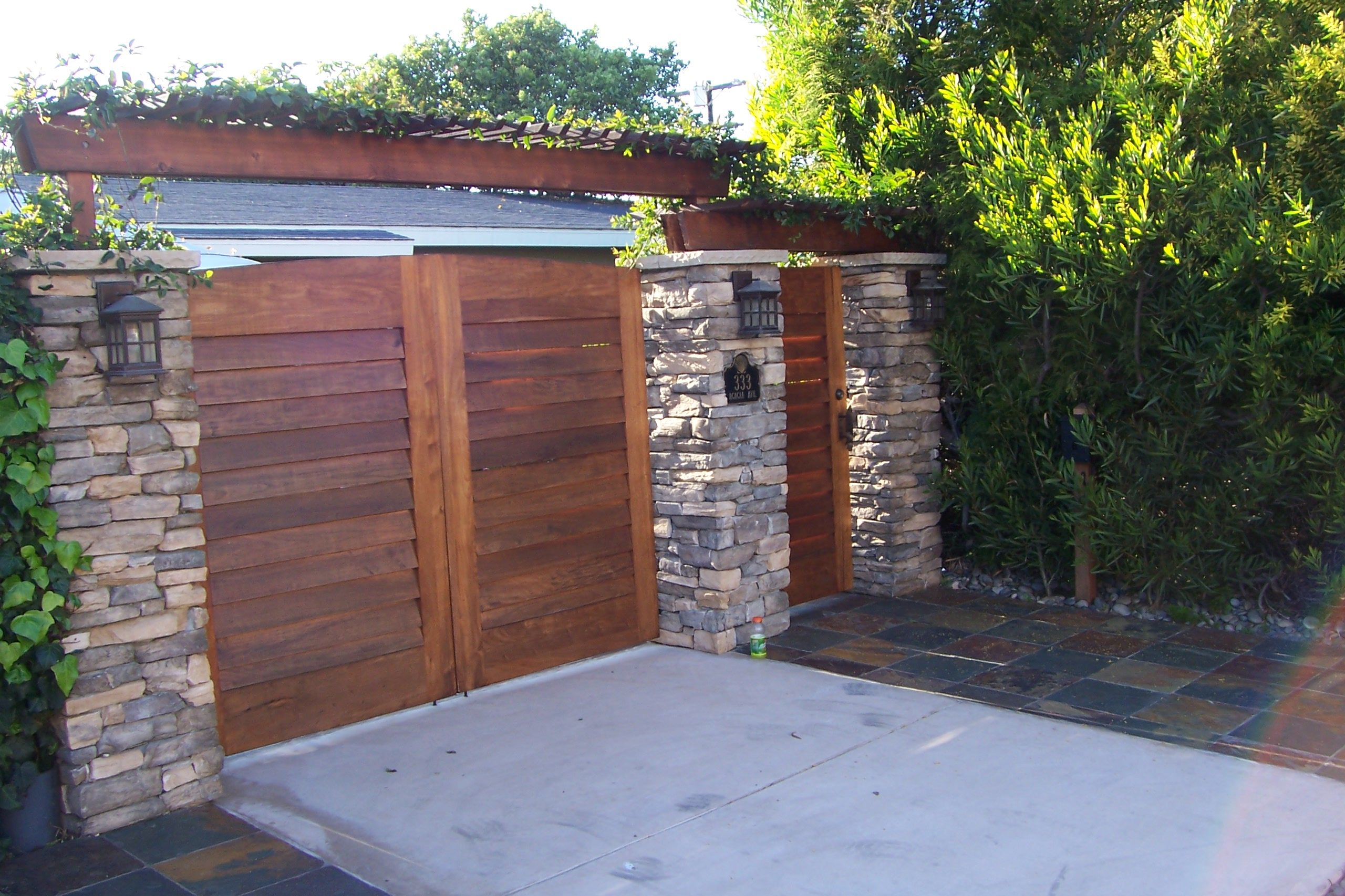creative privacy fence ideas creative fences gates and enclosures in san diego part