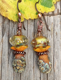 Autumn's Arrival Earrings by Toni McCarthy