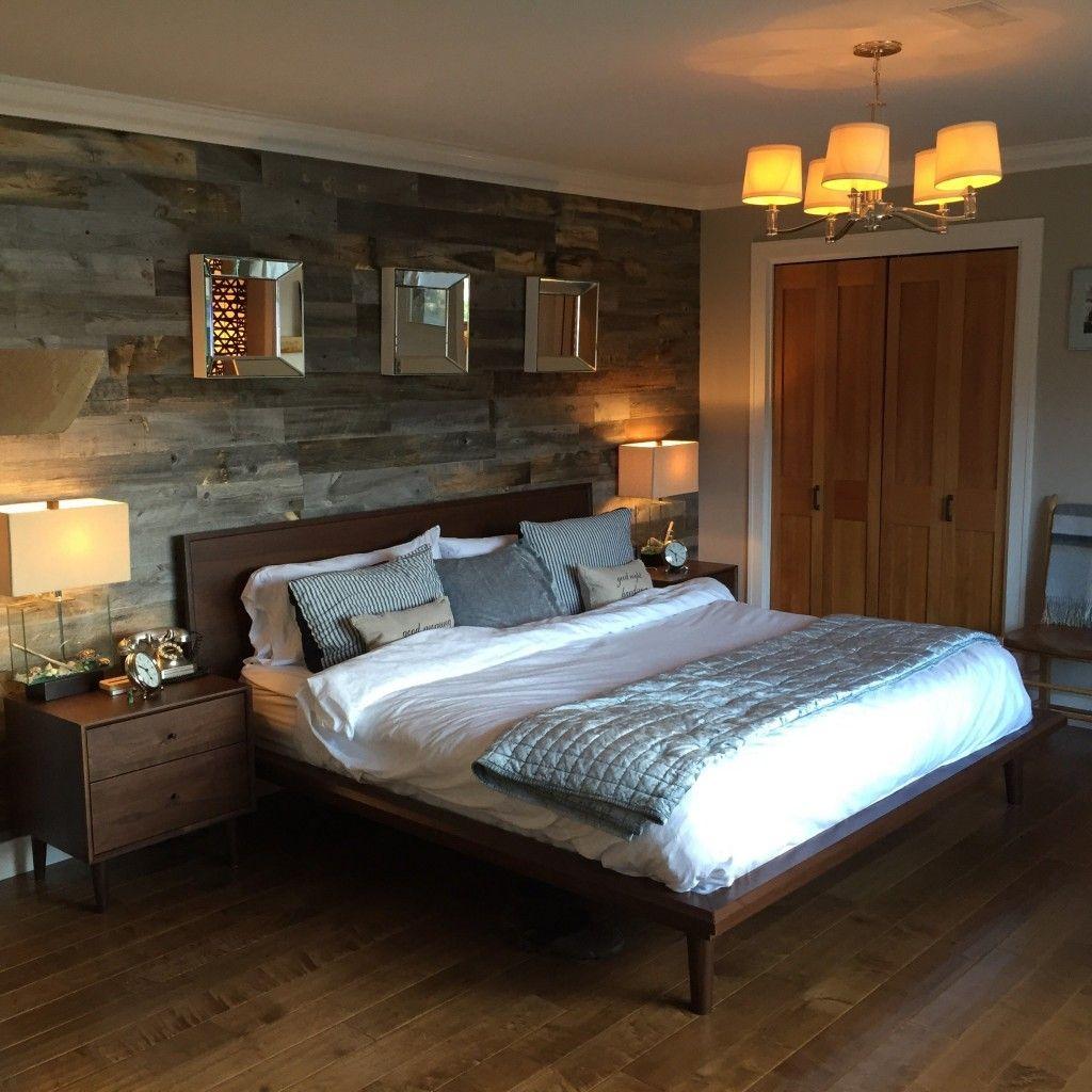 Barnboard, Reclaimed, Wood Wall Covering Bedroom wall