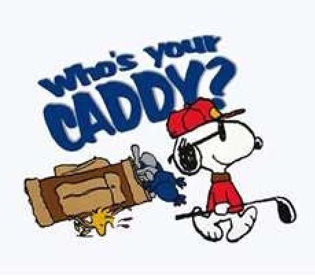 who is your caddy? | snoopy and the gang | Golf humor