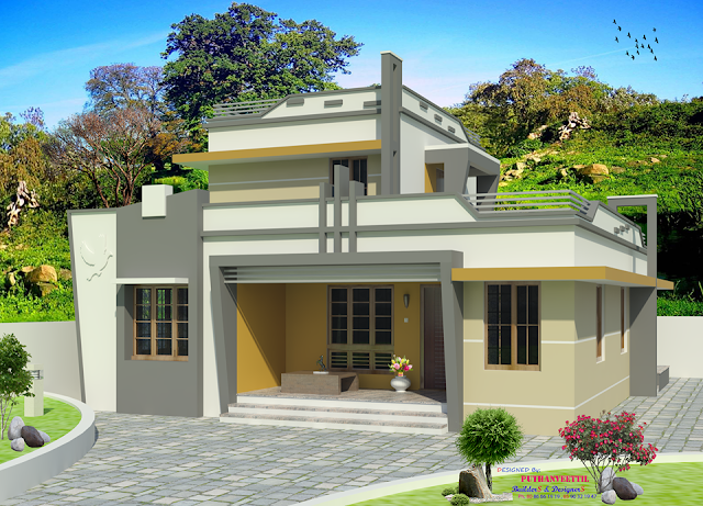 545 Sq Ft Beautiful Kerala Home Plan With Budget Of 5 To 7 Lakh Including Floor F Kerala House Design Modern Contemporary House Plans Single Floor House Design