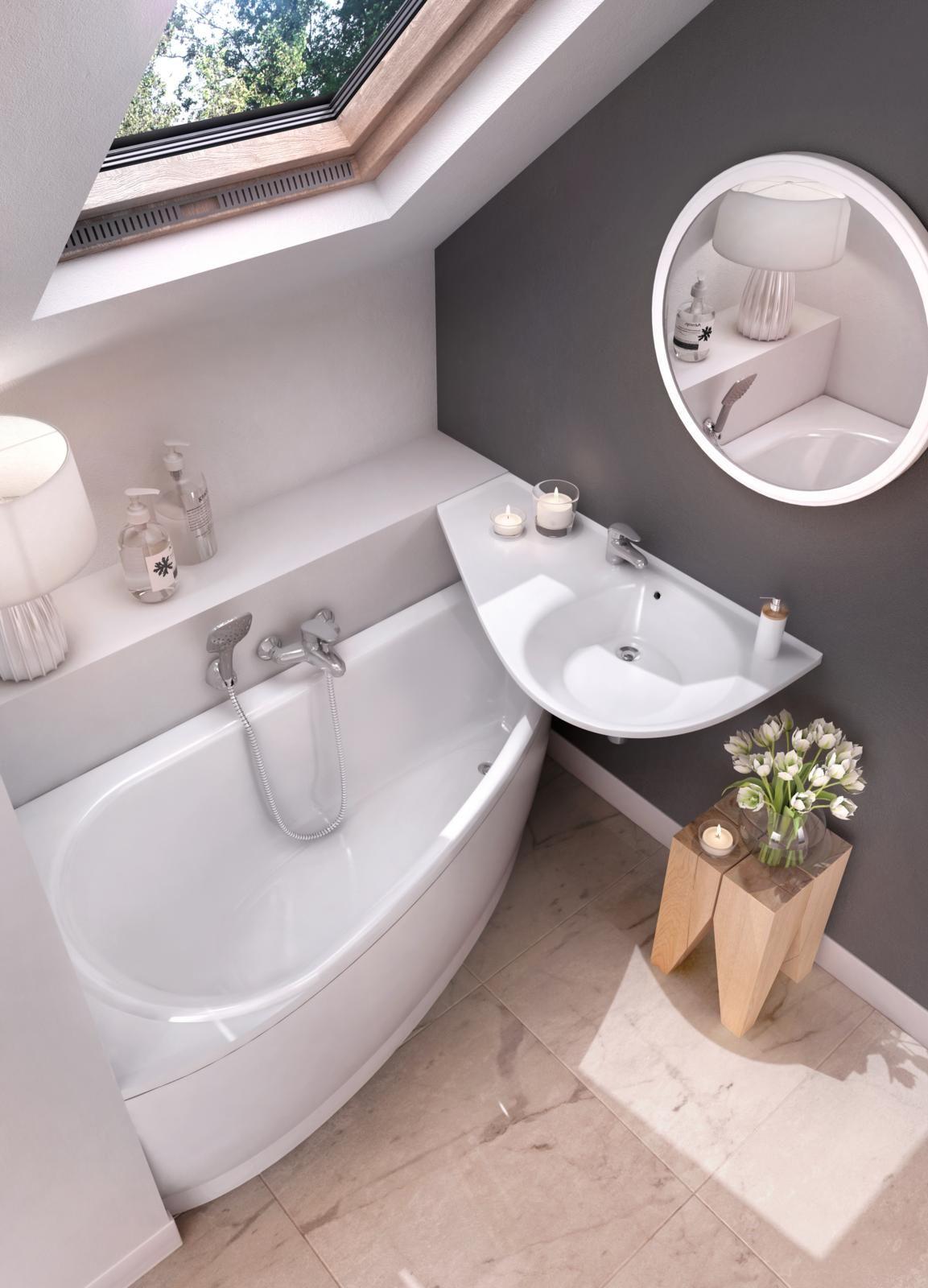Az Avocado fürdőszoba koncepció szaniterei (kád, mosdókagyló) a ...