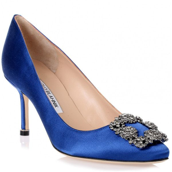 0f8cbffda410 Hangisi 70 Royal Blue Satin Pump (13.355.745 IDR) ❤ liked on Polyvore  featuring shoes