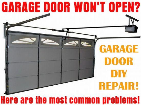 Garage Door Will Not Open How To Fix A Stopped Door Garage Doors Garage Door Opener Repair Garage Door Maintenance