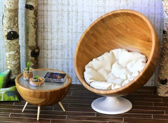 Diy doll furniture Cute Dont Have Dolls But Want The Furniture Doll Diy How To Make Modern Miniatures From Ikea Bowls Pinterest Dollhouse Diy How To Make Modern Miniatures From Ikea Bowls My