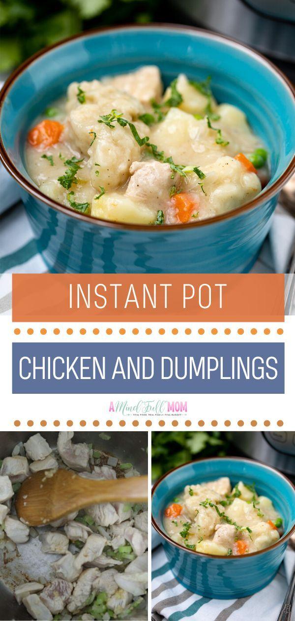 instant pot chicken and dumplings in 2020  instant pot