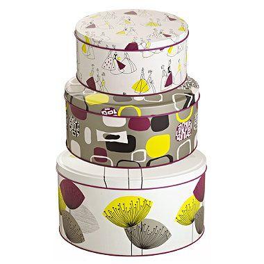 3 sanderson dandelion clocks cake tins from lakeland. Black Bedroom Furniture Sets. Home Design Ideas