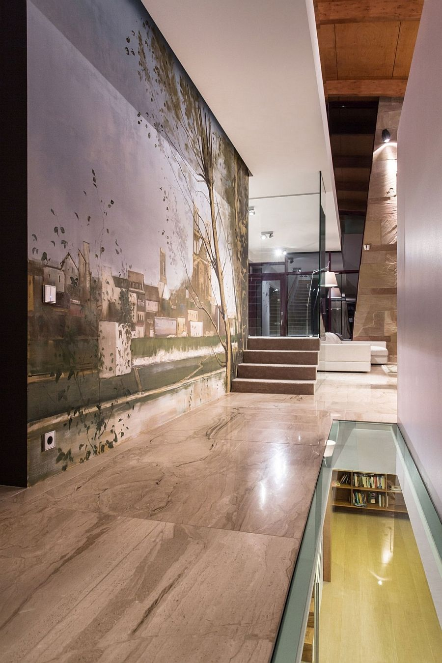 Gorgeous wall mural adds elegance and class to the modern home
