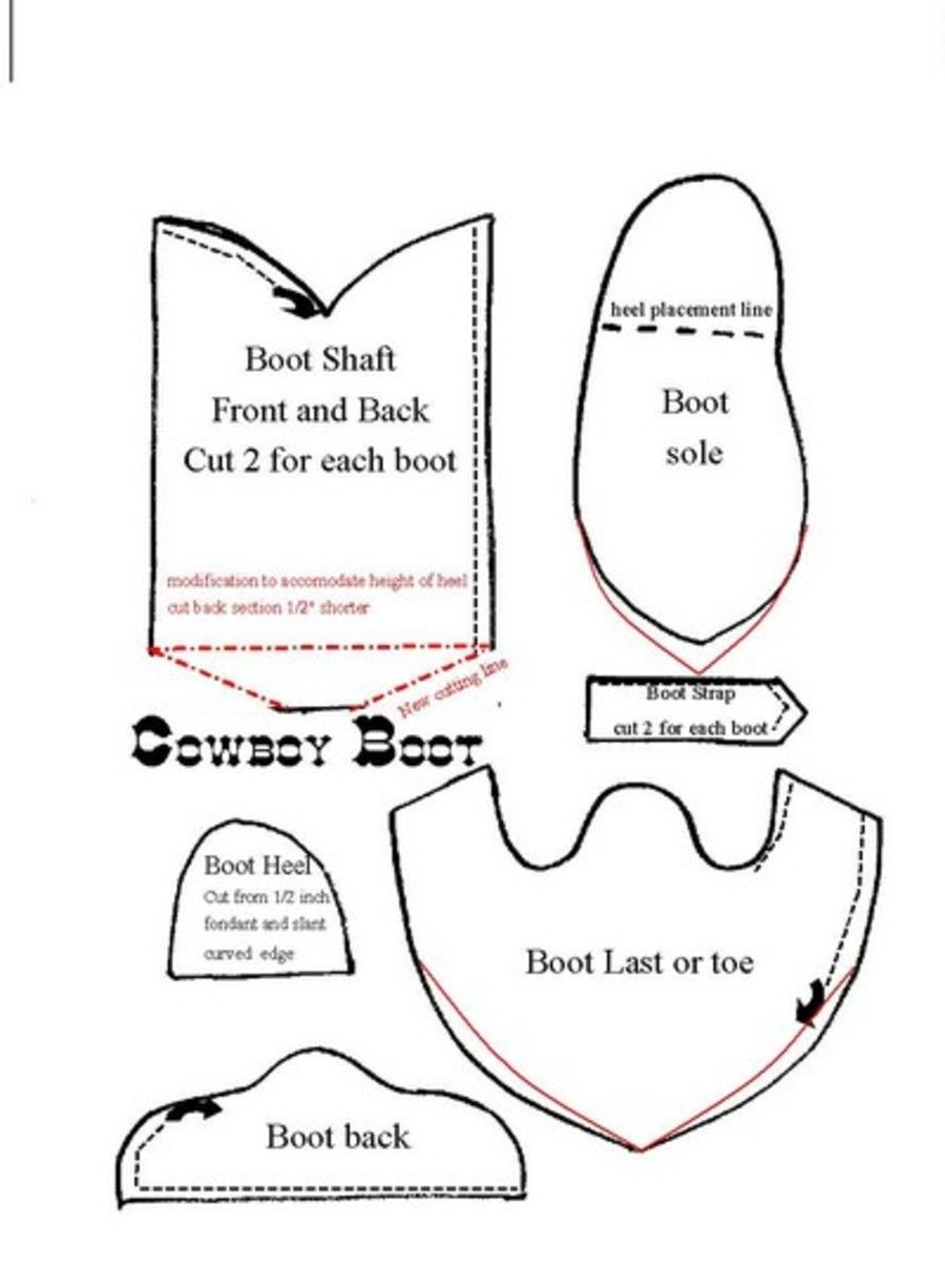 Grown-Up Cowboy Boot This is the pattern for the revised cowboy boot ...