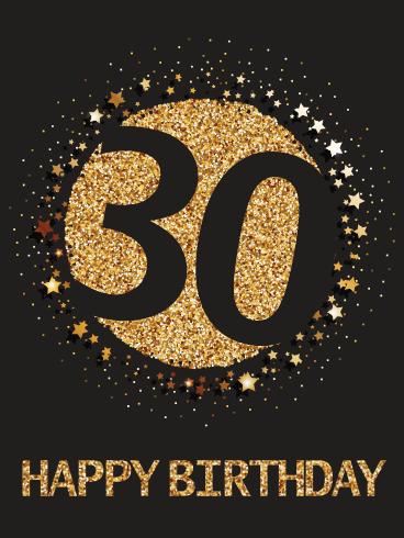 Happy 30th Birthday Card Birthday Greeting Cards By Davia 30th Birthday Cards Happy 30th Birthday Happy 30th Birthday Wishes