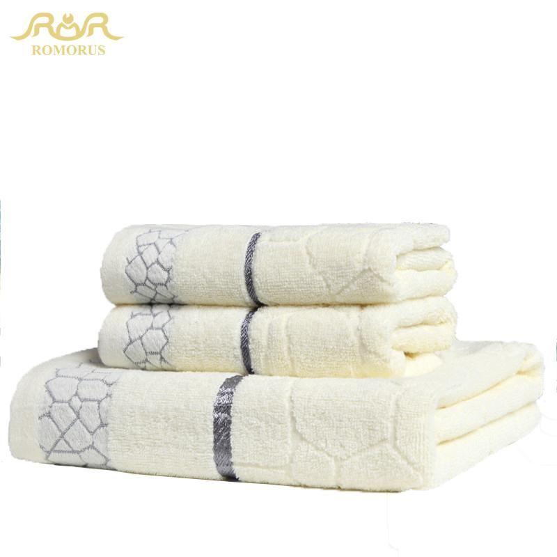 Romorus Designer Soft Large Towel Set 100 Cotton Bathroom Towels Beach Gym Home Bath Face Towels In Bulk From China Rmr271238 Bathroom Towels Towel Set Face Towel