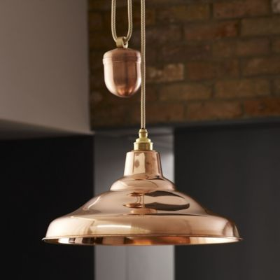 e1bde73bb742 An accessible design composed of brilliantly polished copper, the Original  BTC lighting/Davey Lighting